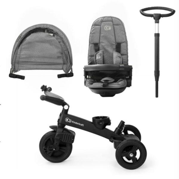 Tricicleta 5 in 1 Kinderkraft EASYTWIST platinum grey 12