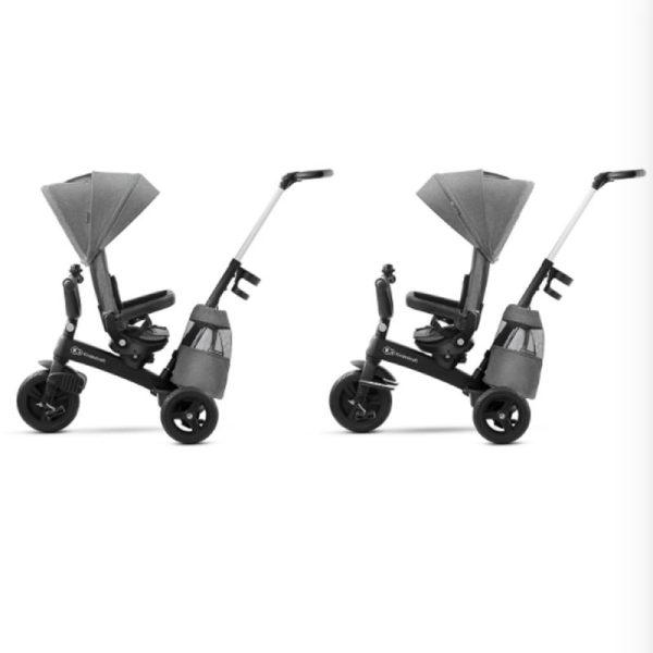 Tricicleta 5 in 1 Kinderkraft EASYTWIST platinum grey 3