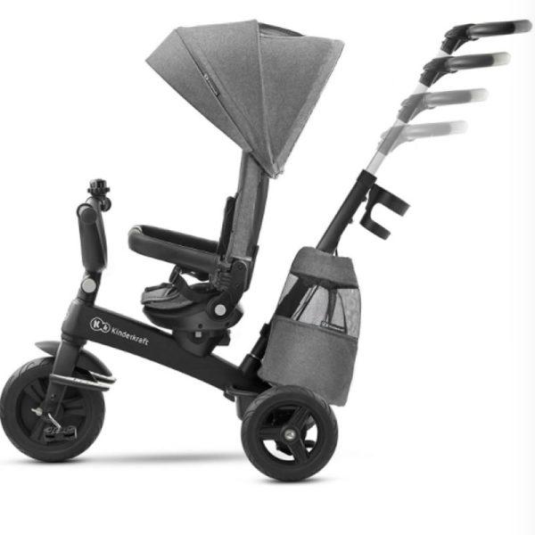 Tricicleta 5 in 1 Kinderkraft EASYTWIST platinum grey 6