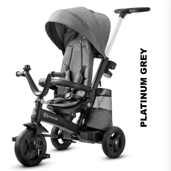 Tricicleta 5 in 1 Kinderkraft EASYTWIST platinum grey