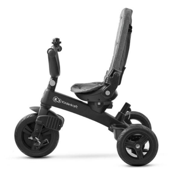 Tricicleta 5 in 1 Kinderkraft EASYTWIST platinum grey 9