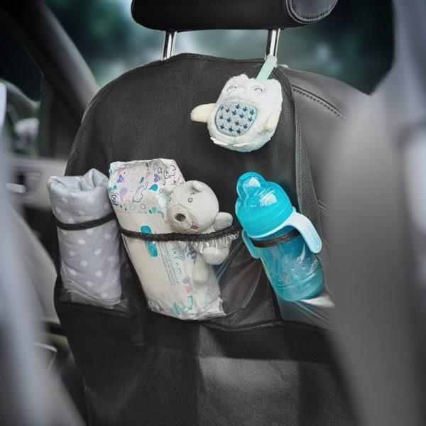 Set protectie bancheta auto si organizator scaun auto Caretero 9