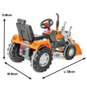 Excavator cu pedale si cupa Pilsan SUPER Portocaliu 1