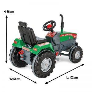 Tractor cu pedale Pilsan SUPER verde 1